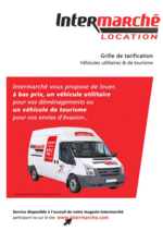 Services et infos pratiques Intermarché Contact : Location de véhicules