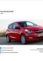 Catalogues et collections opel : Découvrez la nouvelle Opel Karl