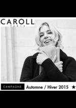 Catalogues et collections Caroll : La campagne automne hiver 2015 de Sienna Miller