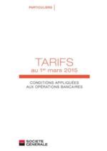 Tarifs Société Générale : Retrouvez les tarifs au 1er mars 2015