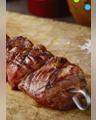 Craquez pour la brochette d'onglet de bœuf