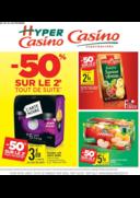 Prospectus Supermarchés Casino PARIS 352 RUE LECOURBE : -50% sur le 2ème tout de suite II