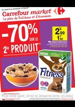 Prospectus Carrefour Market : -70% sur le 2ème produit