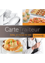 Menus  : La carte traiteur
