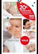 Prospectus Bébé 9 : 20€ remboursés dès 60€ d'achat de produits NUK