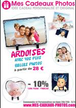 Promos et remises  : -10% de remise sur nos ARDOISES PHOTO