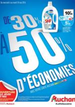 Prospectus Auchan : De 30% à 50% d'économies