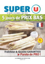 Prospectus Super U : 5 jours de prix bas
