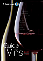 Prospectus E.Leclerc : Guide des vins 2016-2017