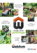 Promos et remises  : Guide jardinage 2016