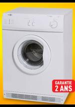 Bons Plans ELECTRO DEPOT : 1er prix : le sèche-linge 6kg évacuation à 144,98€