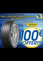 Bons Plans Vulco : Jusqu'à 100€ OFFERTS pour l'achat de pneus Dunlop