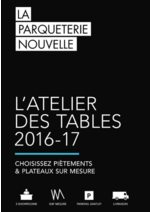 Promos et remises  : Catalogue: L'atelier des tables 2016-17