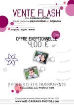 Promos et remises PUBLICEO : Vente Flash : 4 € les 2 porte-clefs personnalisés