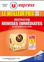 Prospectus U Express : Destination remises immédiates sur une sélection de produits