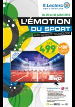 Prospectus E.Leclerc : L'émotion du sport avec la haute technologie