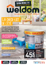 Prospectus Weldom : La check-list de l'été