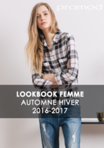 Catalogues et collections Promod : Lookbook automne hiver 2016-2017