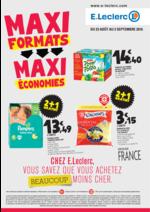 Prospectus E.Leclerc : Maxi Formats = Maxi Économies