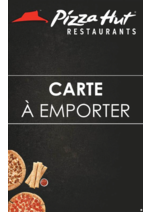 Menus Pizza hut : Carte A Emporter