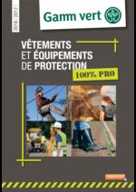 Prospectus Gamm vert : Vêtements et équipements de protection