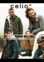 Catalogues et collections Celio : Lookbook automne hiver 2016