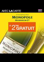 Bons Plans Monoprix : Champagne Monopole le 2ème gratuit avec la carte