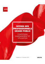 Catalogues et collections SFR : Offres SFR professionnels grand public