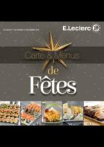 Promos et remises  : Carte & Menus de fêtes