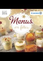 Menus E.Leclerc : Menus en fêtes