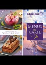 Menus E.Leclerc : Menus & Carte. Saveurs en fête !