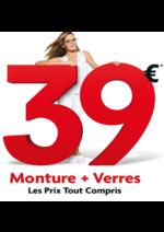 Catalogues et collections Optic 2000 : Monture + verre à 39€