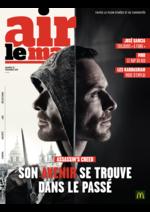 Journaux et magazines Mc Donald's : Air le Mag du mois de Décembre 2016