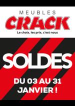 Promos et remises Meubles Crack : Soldes : jusqu'à -50% chez Crack