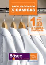 Promoções e descontos 5àSec : Pack Engomado 5 Camisas