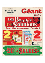 Prospectus Géant Casino : Les bonnes (ré) solutions pour bien commencer l'année !