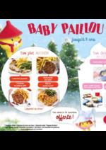 Menus Courtepaille : Retrouvez la carte baby Paillou