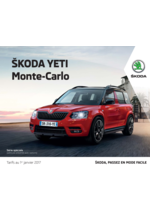 Catalogues et collections Skoda : Skoda Yeti Monte-Carlo
