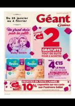 Prospectus Géant Casino : 2 gratuits tout de suite pour 2 achetés