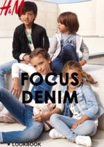 Catalogues et collections H&M : Lookbook enfant Focus Denim