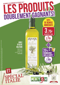Prospectus Supermarchés Match Barr : Les produits doublement gagnants !