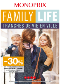 Prospectus Monoprix PARIS 71 rue Saint Antoine : Family life