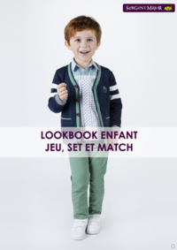 Catalogues et collections Sergent Major PARIS 66 AVENUE DU GENERAL LECLERC : Lookbook enfant Jeu, Set et Match