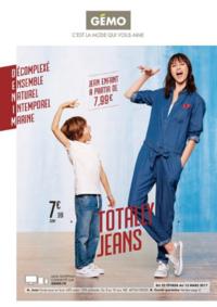 Prospectus Gemo REDON : Totally jeans