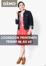 Catalogues et collections Gemo : Lookbook printemps femme 46 au 60