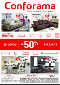 Folhetos Conforama Setúbal : Especial Sofás e Salas até -50%