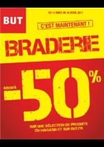 Prospectus BUT : Braderie jusqu'à -50% sur une sélection de produits