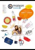 Prospectus E.Leclerc : Collection table & cuisine printemps été 2017