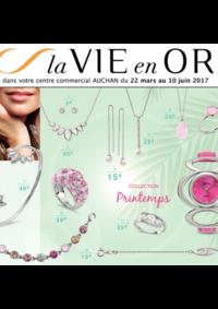 Prospectus Auchan Val d'Europe Marne-la-Vallée : La vie en or collection printemps