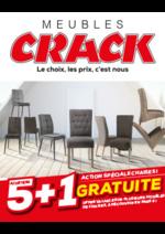 Prospectus Meubles Crack : Action chaises : 5 achetées + 1 gratuite